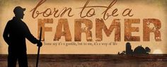 Born to Be A Farmer Sign