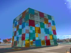 blue & building, Malagueta beach-Málaga-Spain