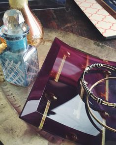 Curved glass prints make elegant jewelry dishes to enhance your home decor. | Shutterfly
