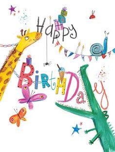 Happy Birthday Animals at Whistlefish Galleries Happy Birthday Animals, Happy Birthday Png, Birthday Clipart, Happy Birthday Images, Happy Birthday Greetings, Birthday Messages, Birthday Quotes, Birthday Wishes, Birthday Cards