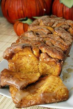 Pull-Apart Cinnamon Sugar Pumpkin Bread...these are the BEST Fall Dessert Recipes!