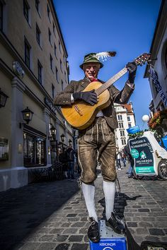 a Bavarian musicians