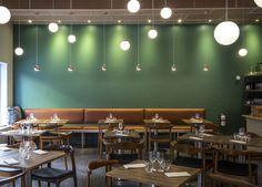 Branding and interior for Malmö restaurant Bord 13 by Swedish graphic design studio Snask