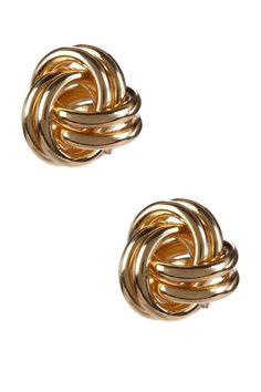 14K Yellow Gold Love Knot Earrings..totally going on my christmas list!