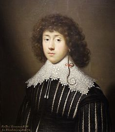 Cornalis Janssens van Ceulen, sir Thomas Hanmer, 2nd Baronet   1631,  Huile sur toile,  Musée national, Cardiff