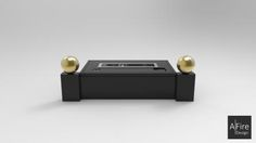 Bruleur Ethanol pour Cheminée ADD corps noir insert inox boule or Floating Nightstand, Black Body, Home, Floating Headboard