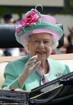 Queen Elizabeth, June 19, 2013 on the second day of the Royal Ascot