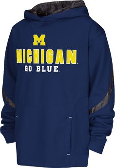 Youth Michigan Wolverines Cutter Embroidered Synthetic Hoodie Sweatshirt $47.95