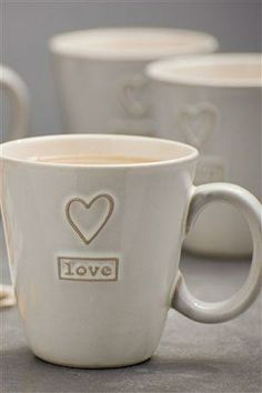 Set of 4 Love Mugs