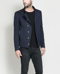 Image 1 of SHORT JACKET WITH SILVER BUTTONS from Zara