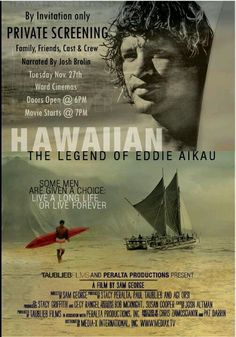 Hawaiin: The Legend Of Eddie Aikau. Documentary about Hawaiin Surf Legend Eddie Aikau. Eddie Would Go All About Hawaii, Maui Vacation, Vintage Surf, Surf Trip, Film Music Books, Hawaiian Islands, Surfs Up, Good Movies, Hawaii Surf