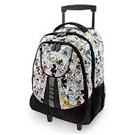 Your WDW Store - Disney Backpack Bag - Mickey Mouse Comic Strip Rolling Backpack (Buy directly from Disney store) Mickey Mouse Luggage, Disney Luggage, Mickey Mouse Backpack, Minnie Mouse, Disney Handbags, Disney Purse, Disney Vacation Planning, Disney Trips, Girls Rolling Backpack