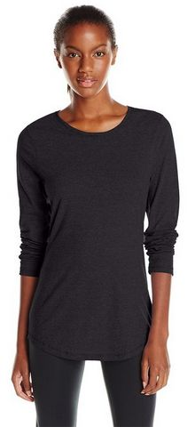 Basic, classic, modest tshirt. Hanes Women's Long Sleeve Crew Neck Top