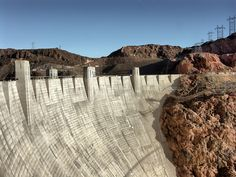 https://flic.kr/p/NZktX9 | Dam Big | Hoover Dam, USA.  The Dam weighs over six-and-a-half million tons, and incorporates over three million cubic yards of concrete – enough to construct a motorway connecting New York to San Francisco!  #Architecture #Colour #Photography  www.richardsugden.com  © Richard Sugden 2016 All rights reserved.