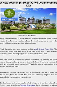 Invest in Retail Space and Office Space in Airwil Smart City  Man has created wonderful things in past forts, palaces, monuments and now constructing the buildings as time changes, the improvement it self comes with hand in hand process.