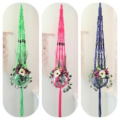 Do you love being able to choose your own colors? Mainly Macrame on Etsy has many different colors and bead styles for your macrame plant hanger needs.
