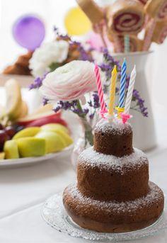 Bisquit-Lollies, gesunder Geburtstagskuchen Kleinkind