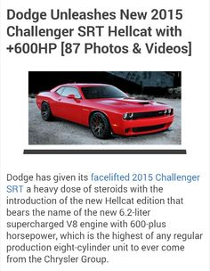 I NEED one!.... 2015 Hellcat. Trying to convince Wil to let me trade in my Dart...almost got him!!