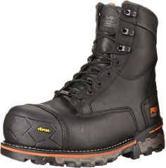 "Timberland PRO Men's 8"" Boondock WP CSA Work Boot, Black Full-Grain Leather, 11 W US"