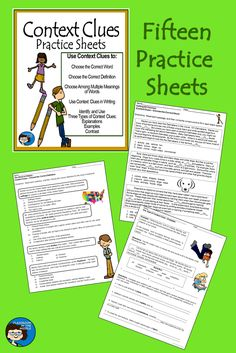 Context Clues Practice Sheets includes fifteen activities for students to work with context clues in their reading and writing. With these worksheets, students get individual text-based practice