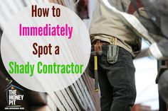 It's hard to tell a reliable contractor from a sketchy one. These tips from The Money Pit experts will help protect you from the bad guys who tend to prey on folks after a storm. Interior Lighting, Lighting Design, Basement Lighting, Works With Alexa, Kitchen Reno, Home Repair, Money, Guys, Bathroom