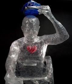 Image result for saran wrap sculpture