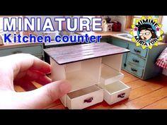 ▶ 미니어쳐 아일랜드 식탁 만들기 miniature - kitchen counter - YouTube
