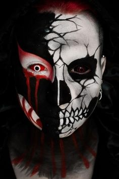 frightful halloween makeup