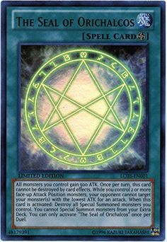 Yugioh LC03-EN001 The Seal of Orichalcos Legendary Collection 3 Limited Edition Ultra Rare by Konami: 1 x LC03-EN001 The Seal of Orichalcos…
