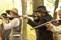 Still of Kevin Costner and Matt Barr in Hatfields & McCoys (2012) Hatfield And Mccoy Feud, Matt Barr, Kevin Reynolds, Hatfields And Mccoys, The Mccoys, Kevin Costner, Family Feud, Great Tv Shows, Western Movies
