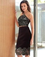 Lipsy Love Michelle Keegan Co-ord Foil Lace Pencil Skirt