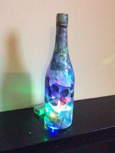 Blue flower lamp/nightlight on Etsy, £13.99
