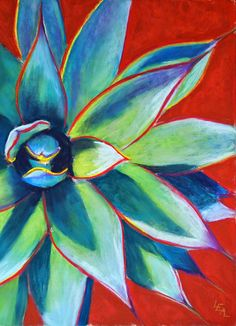 """Blue Glow Star"" 14 x 10 Original Pastel Painting For Sale © Anna Lisa Leal - Art in Progress: Blue Glow Star Southwestern Paintings, Mexican Paintings, Southwest Art, Mexican Art, Mexican Fabric, Cactus Art, Tropical Art, Arte Popular, Pastel Art"