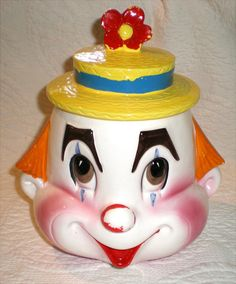 Clown Cookie Jar-Not  Creepy by Buddhagal on Etsy