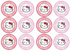 Diy free hello kitty cupcake topper justlovedesign resultado de imagen para hello kitty cupcakes toppers maxwellsz