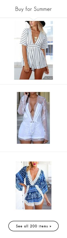 """Buy for Summer"" by madamshante17 ❤ liked on Polyvore featuring jumpsuits, rompers, black, jumpsuits & rompers, playsuit jumpsuit, playsuit romper, striped rompers, striped romper, stripe romper and white"