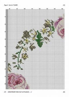 Geri Dönüşüm Projeleri Cross Stitch Rose, Cross Stitch Flowers, Prayer Rug, Bargello, Blackwork, Diy And Crafts, Embroidery, 1, Ideas
