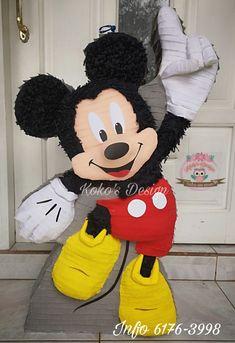 Miki Mouse, Pinata Ideas, Cardboard Animals, Balloon Decorations, Balloons, Birthdays, Parties, Disney Characters, Fun