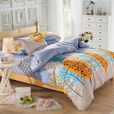 Home textile,Reactive Print 4Pcs Cotton bedding sets include Duvet Cover Bed sheet Pillowcase,housse de couette, Bed Linen