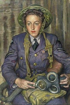 Laura Knight Corporal J. M. Robins, Women's Auxiliary Air Force, 1941
