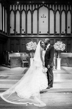 Black and White Wedding Ceremony Photography
