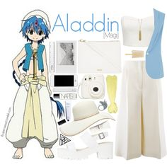 Aladdin [Magi] by anggieputeri on Polyvore featuring Forever New, Closet, CÉLINE, Skinnydip, Zad, Forever 21, Armani Jeans, H&M, Rodin Olio Lusso and NARS Cosmetics