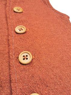 Vesta Lana fiarta RUST dublata cu jerse de lana gri 100% lana | Breslo Lana, Rust, The 100