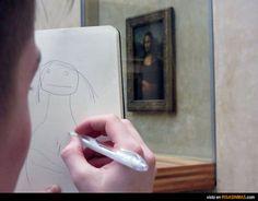 Una copia exacta de la Gioconda.