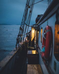 Evening on a yacht/sailing ship Fishermans Friend, Morning Water, Pirate Life, Le Havre, Blue Hour, Sail Away, Set Sail, Catamaran, Adventure Is Out There