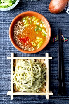 Spicy Miso Tsukemen - A cooling and summer-perfect Tsukemen Recipe served with a deeply flavored spicy miso broth. These Japanese dipping noodles are ready in 22 minutes! Recipe, Japanese, noodles, flavor, main, dinner | http://pickledplum.com