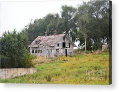 The Old Farm Acrylic Print by Bonfire #Photography