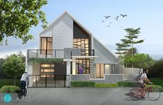 Modern House Facades, Modern House Plans, Modern Architecture, House Design Photos, Tiny House Design, Modern House Design, Architectural Floor Plans, Modern Minimalist House, Kerala House Design