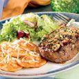 Aprons Recipe - Mediterranean Ribeye Steaks With Pierogies à la Vodka