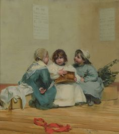 Jules Alex Patouillard Degrave (1844-1932) Birthday surprise